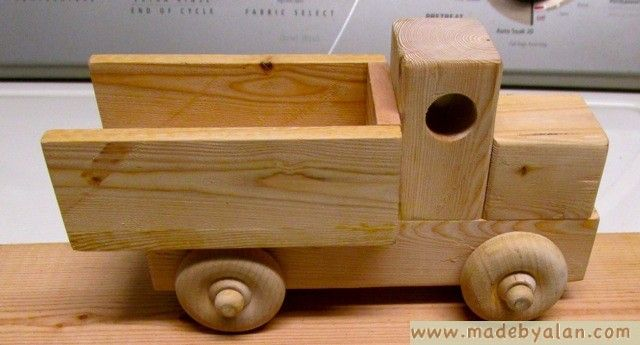 simple wood toy truck