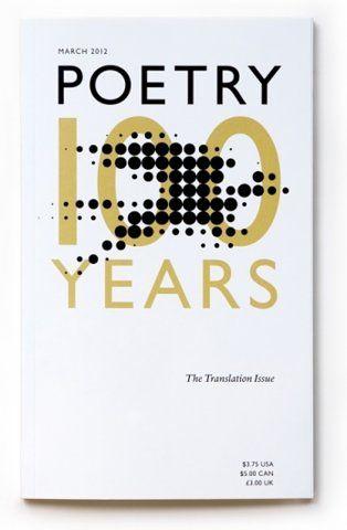 New Work: Poetry Magazine Anniversary Cover   New at Pentagram   Pentagram — Designspiration