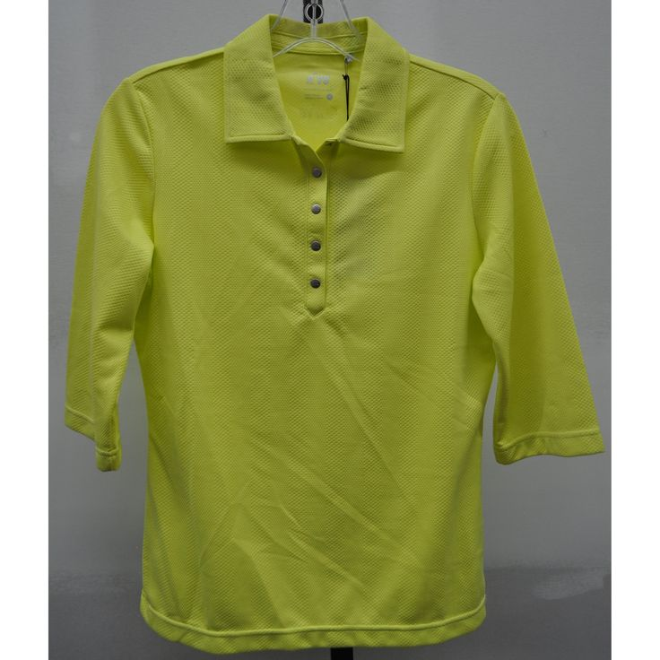 Summer  ladies golf clothing, still arriving daily at From the Red Tees:   Acid Yellow 3/4 S...  Be the first to have!  http://www.fromtheredtees.net/products/acid-yellow-short-sleeve-polo?utm_campaign=social_autopilot&utm_source=pin&utm_medium=pin