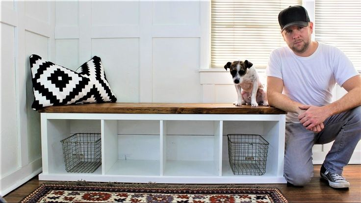 IKEA HACK - The Shiplap Storage Bench - YouTube