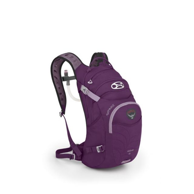 The women-specific Osprey Verve 13 hydration pack totes your gear plus 3  liters of water for those epic rides that go beyond 3 hours.