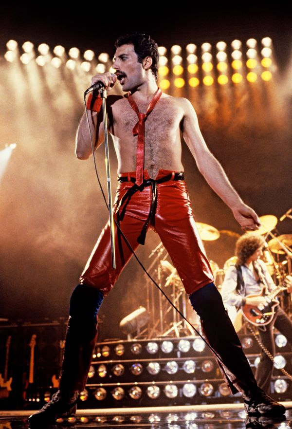 """Freddie Mercury  Queen  """"In those moments, he is as justified as he will ever be: He has found his hard-learned wisdom in maybe the only way he could. It is Freddie Mercury's dying that saved him.""""  Read more: http://www.rollingstone.com/music/news/queens-tragic-rhapsody-20140707#ixzz36xczf5Q0  Follow us: @rollingstone on Twitter 
