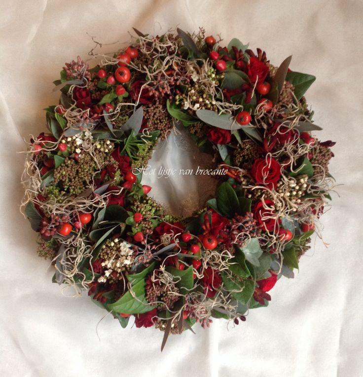 Homemade Christmas Wreath...by Silvia Hokke