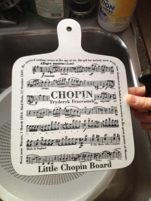 A little musical humor for your kitchen from a Chopin. ;) @Candice Laizer @Nicole Novembrino Novembrino Chopin