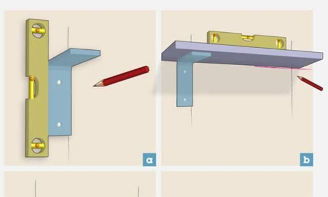 How to hang shelves DIY. Has step by step instructions involving studs and a drill