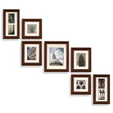 Create-a-Gallery Portrait 7-Piece Wood Frame Set - Walnut