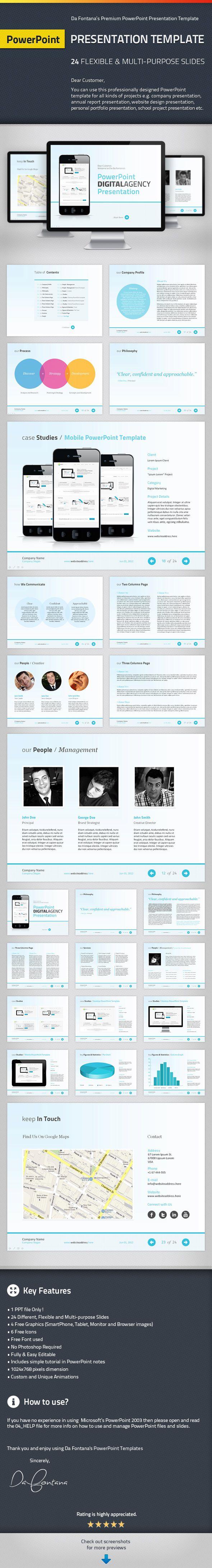 PowerPoint Agency / Personal Presentation Template by CheDaFontana.deviantart.com on @deviantART