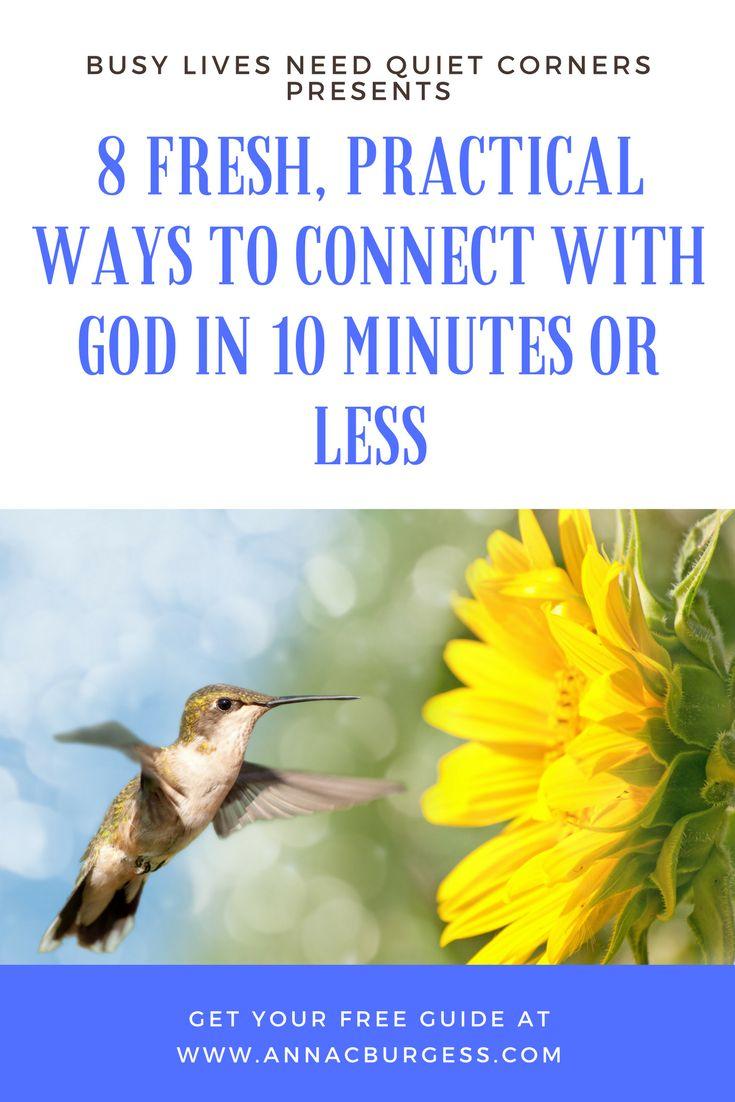 Free guide! Short quiet time ideas www.annacburgess.com #timewithGod #quiettimeideas