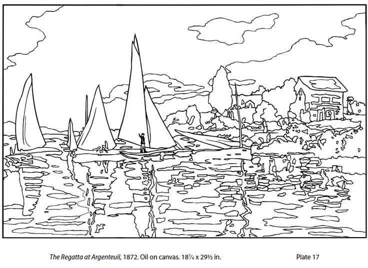 Monet Printable Coloring Pages   Art hand-outs   Colorful ...