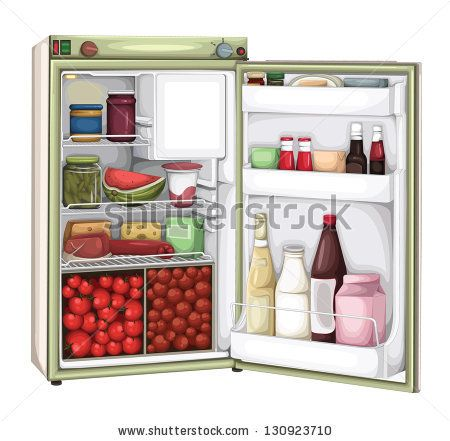 Fridge Food Stock Photos, Illustrations, and Vector Art