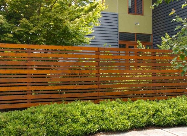 Horizontal fence designs horizontal wood fence plans in for Barda de madera para jardin