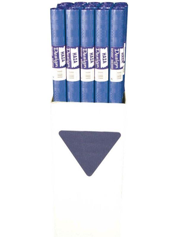 Blauw tafelpapier 800x118cm bij Fun-en-Feest.nl. Online Donkerblauwe tafel decoratie bestellen, levering uit voorraad. Blauw tafelpapier 800x118cm voor �
