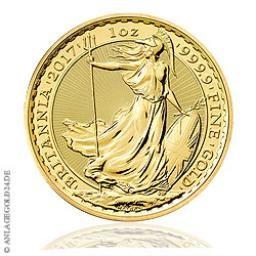 Britannia 1oz Gold 2017 - Goldmünze aus Großbritannien