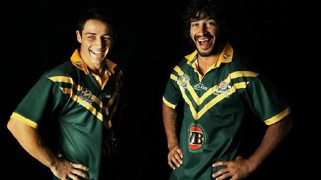 Cooper Cronk with Johnathon Thurston
