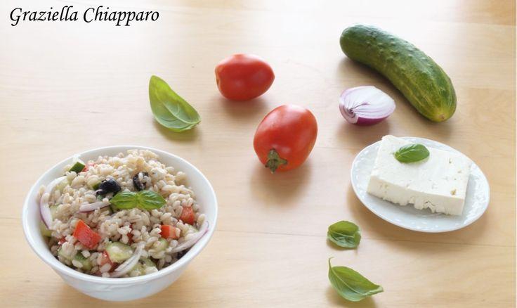 Insalata+d'orzo+alla+greca+|+Ricetta