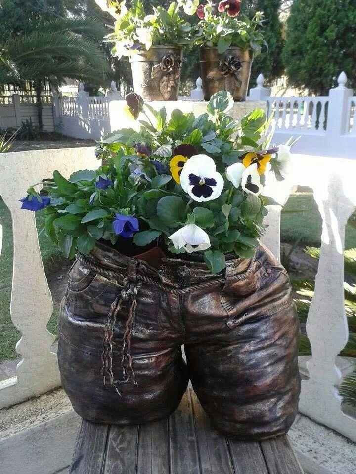 Jeans as blompot mbv Tokreen