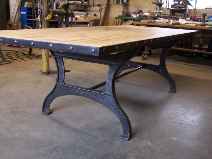17 best ideas about industrial dining tables on pinterest