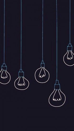 Light bulbs minimalistic http://theiphonewalls.com/light-bulbs-minimalistic/