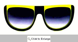 UFO Retro Sport Sunglasses - 128 Black/Yellow