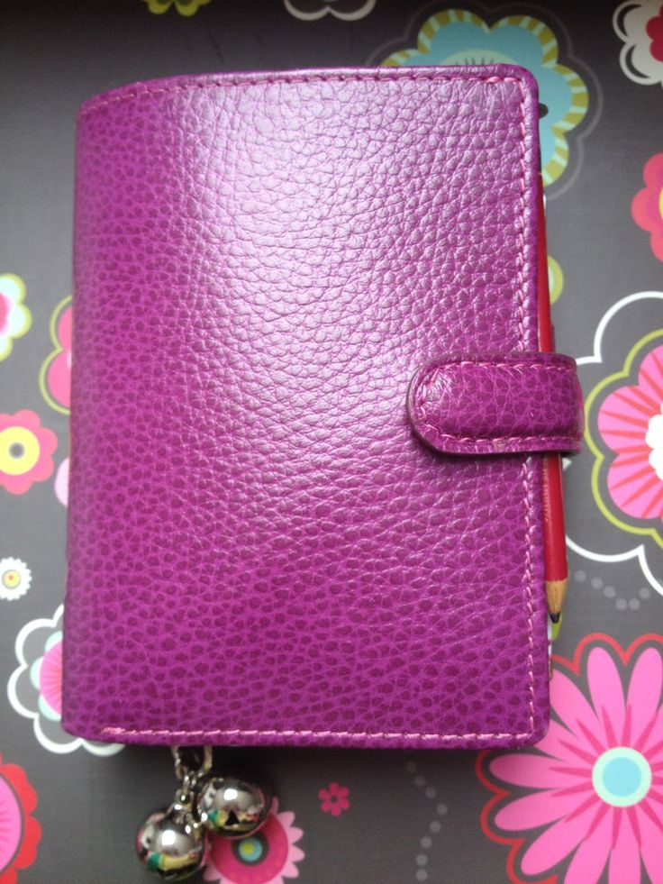 Filofax Mini Finsbury in Raspberry as a wallet