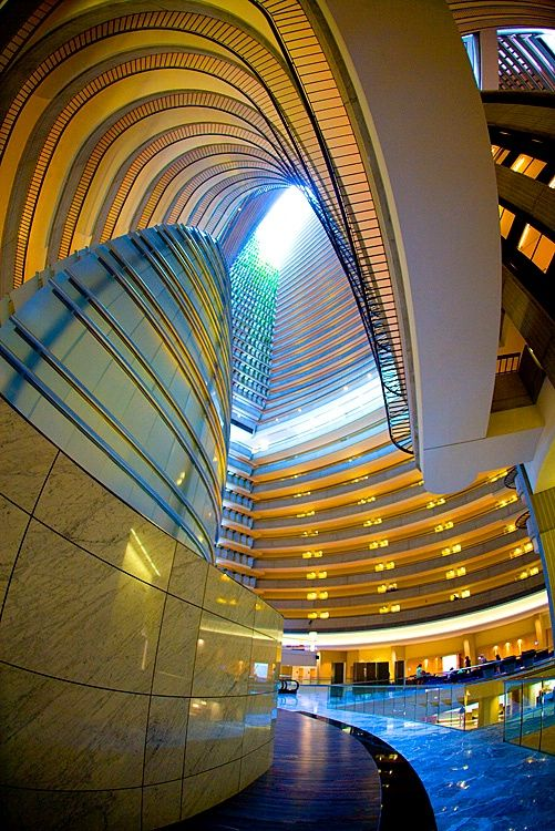 Marriot Marquis Hotel, Atlanta, Georgia (this is really cool to see in person - this picture is great)