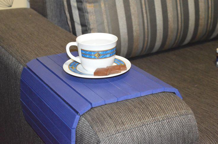Деревянный коврик на подлокотник (синий) #2i2ua, фото 1