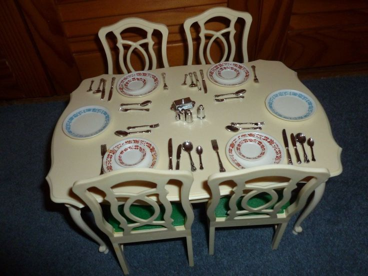 Vintage Sindy Doll Dining Room Table Amp Chairs X4 With