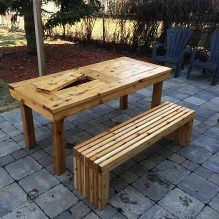7 best modern wood patio bench images on pinterest wooden benches inspiring wood patio table diy patio design ideas tips and photo gallery solutioingenieria Images