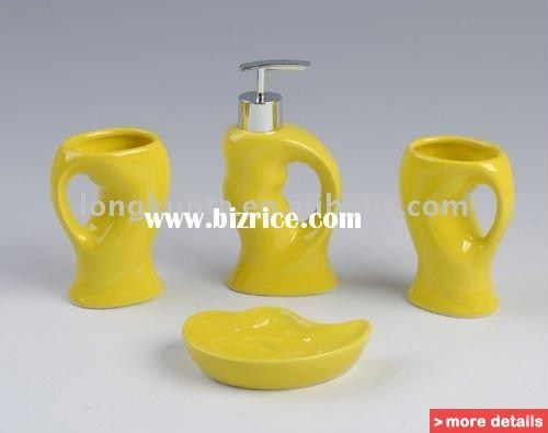 bathroom accessories yellow decorating ideas gray master
