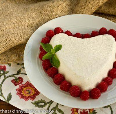Coeur a la Creme with Raspberry Sauce