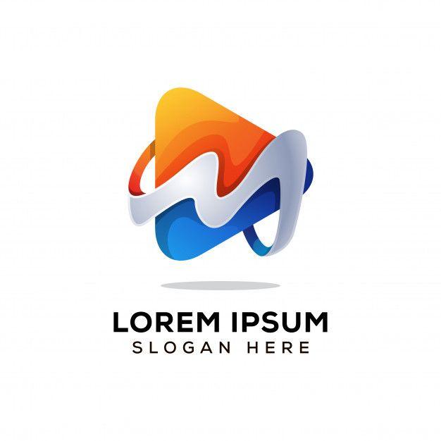 Letter M Media Logo Vector Vector Logo Media Logo Lettering
