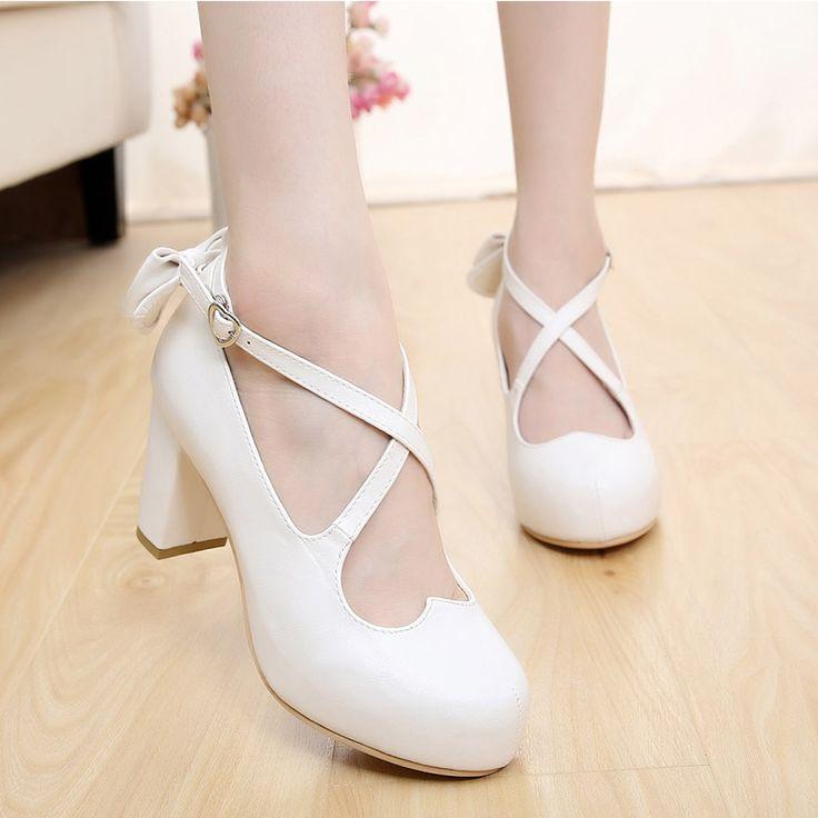 Negros Lolita Zapatos Tacones pompomes 6v2UaZ