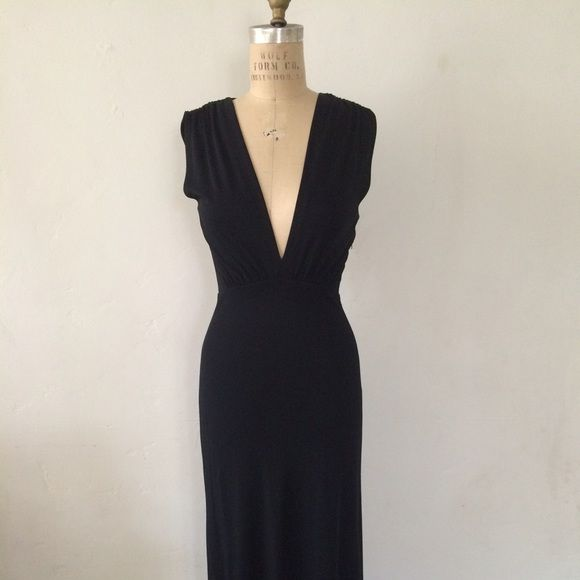 Vintage Maison Martin Margiela  1970 Dress Sz S Simply gorgeous 1970 Reproduction by MMM.  Deep V plunging neckline dress length is to the floor. Beautiful!! Maison Martin Margiela Dresses Maxi