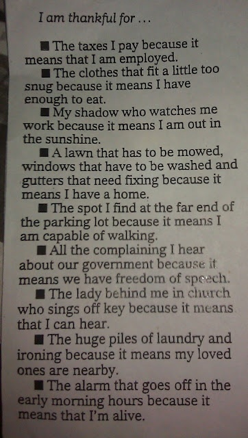 wonderful dose of perspective