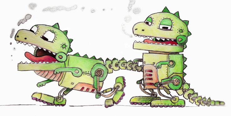 Russell James - Robot dinosaur