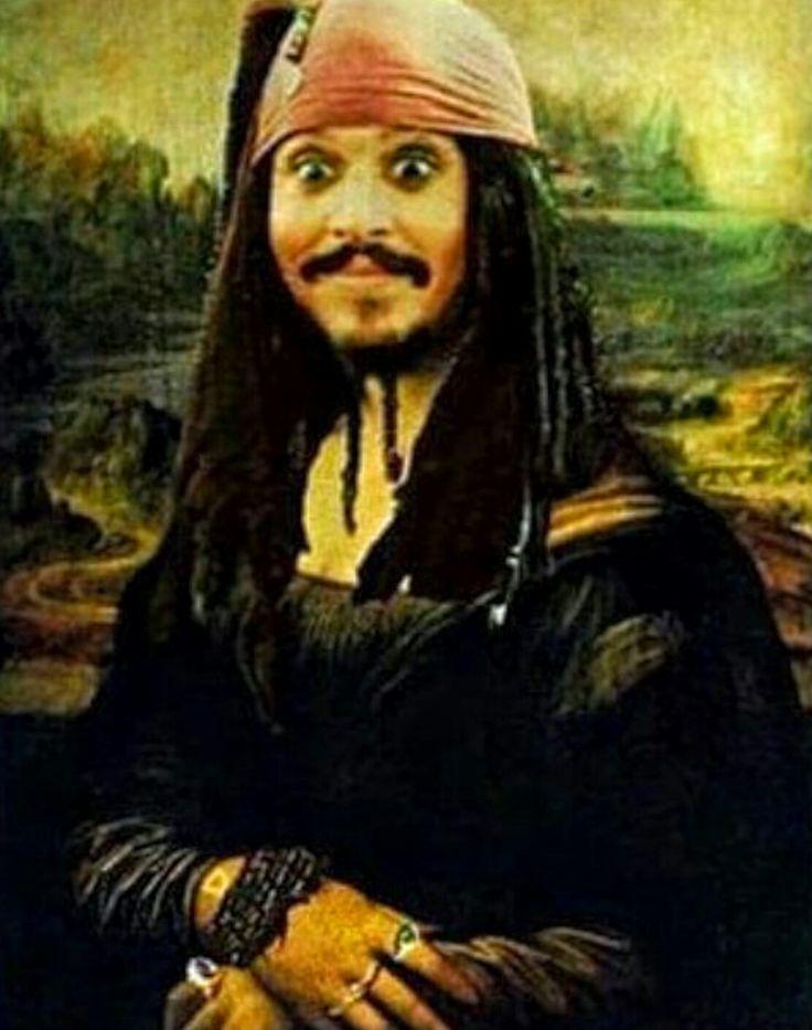 """a """"Captain Jack Sparrow Mona Lisa"""""""
