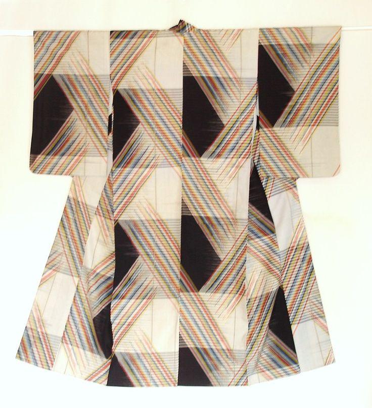 Meisen Kimono by Haruko Watanabe. Made between 1930s and 1950s.