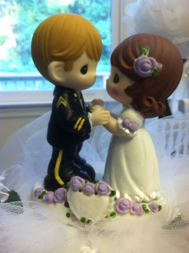 ARMY WEDDING CAKE TOP TOPPERS PRECIOUS MOMENTS