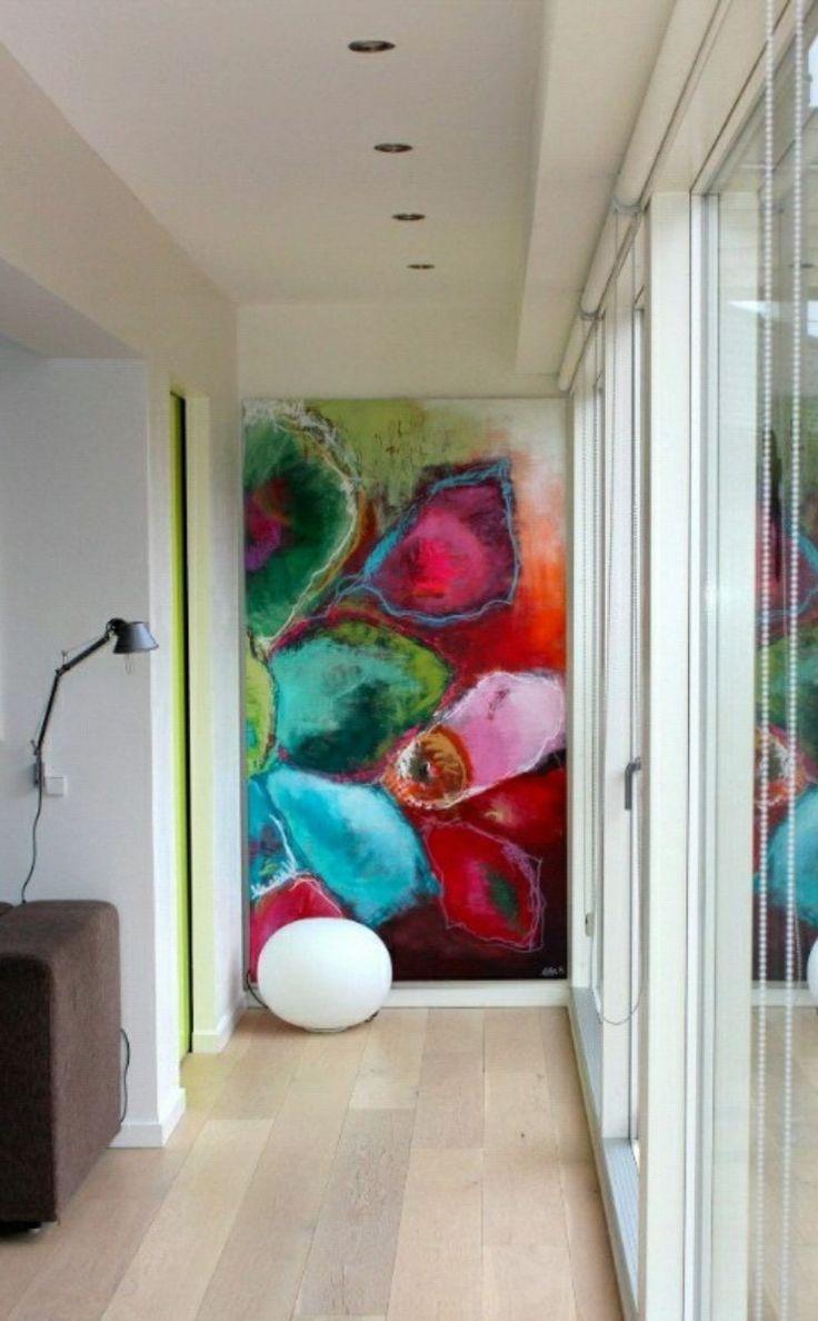 cuadros modernos x abstractos tripticos texturados