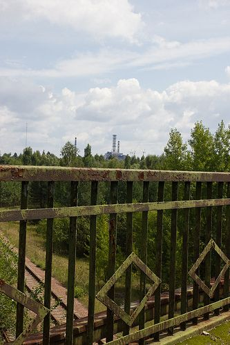 """The """"Bridge of Death"""".   On April 26,1986, reactor 4 at Chernobyl failed.  Some residents of Pripyat went to this bridge, where they could have a good look at the reactor. Some say it was the most beautiful thing they have ever seen in their life. Unfortunately the wind was blowing towards them, carrying a heavy dose of radioactivity with it. Almost everybody who stood on the bridge died within the next two days."""