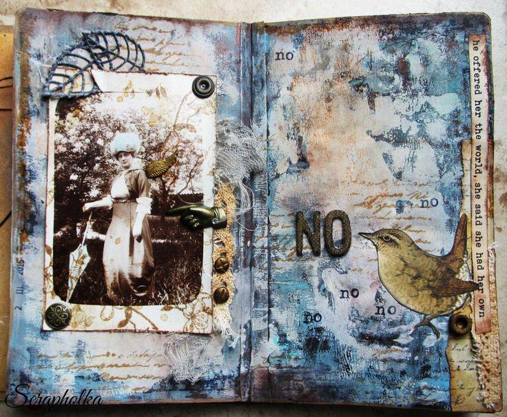 art journal spread Rejection