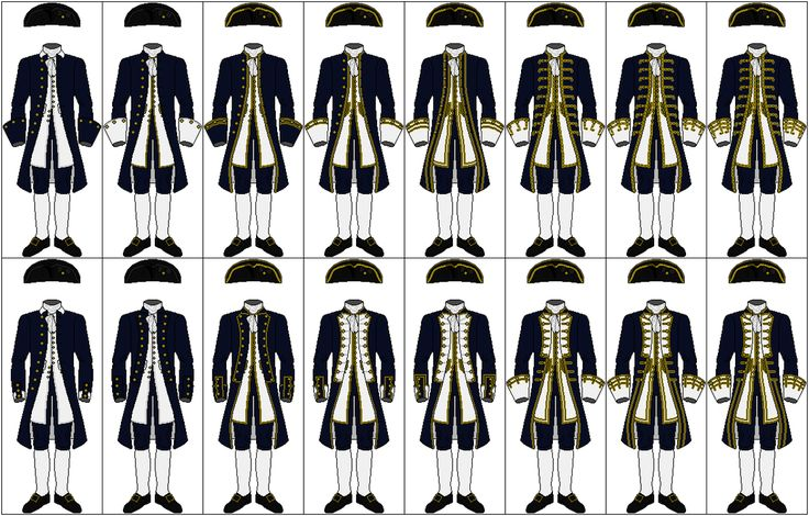Uniforms of the Royal Navy, 1748-1767 by CdreJohnPaulJones on DeviantArt