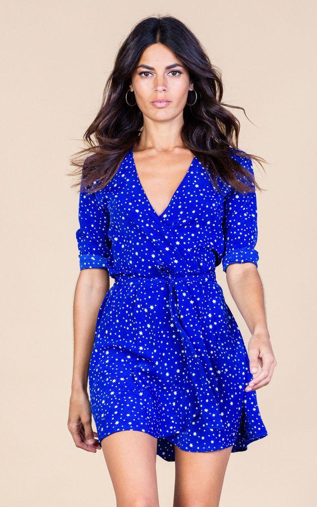 Zeina Wrap In Royal Star - SilkFred