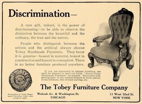 Tobey Furniture Ad