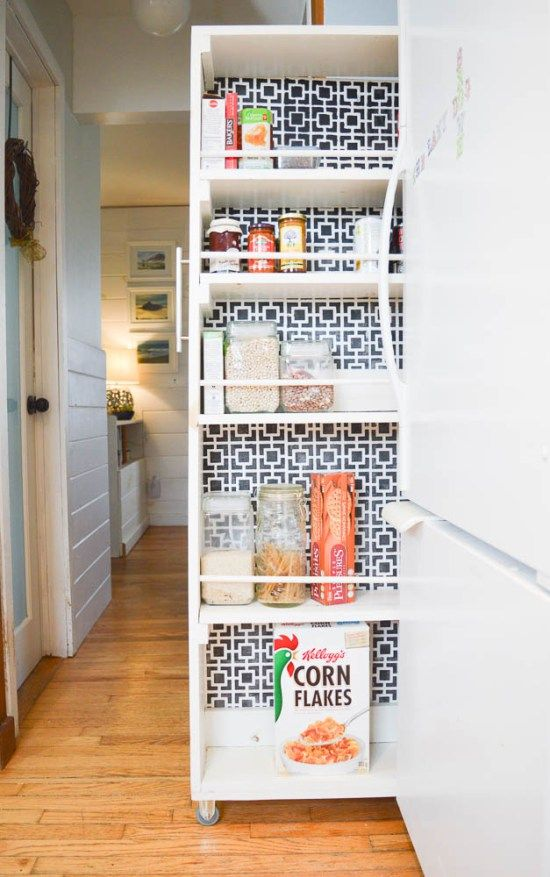 25 best no pantry solutions ideas on pinterest definition of genius sugar container and flour storage container - Storage Ideas For A Small Kitchen