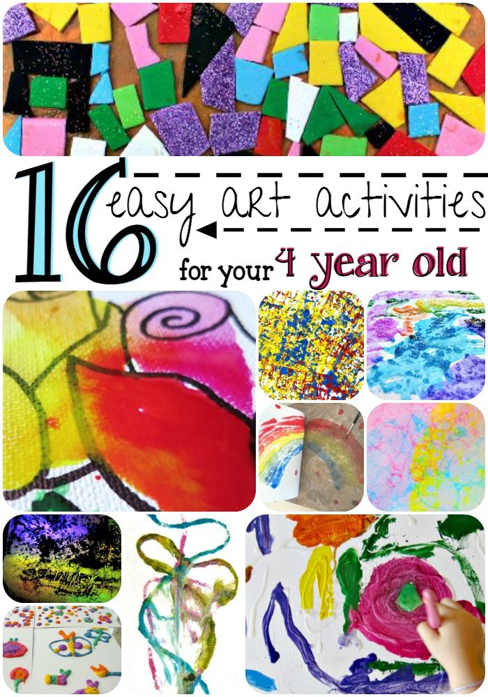 16 Easy Art Activities For Your 4 Year Old Art For Kids Art