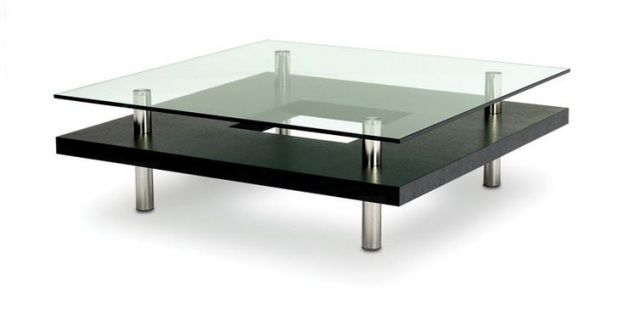 """The HOKKAIDO tables have an elegant simplicity that disguises tremendous strength. A rich wood grain surrounds the cutout section on the lower shelf, while the UV-bonded tempered glass is supported with stainless steel legs. These distinctive tables are available in a variety of sizes in either Espresso on Oak, Natural Walnut or Chocolate Stained Walnut finishes. DimensionsSquare - 43"""" x 43"""" x 13.5""""Small Rectangle - 44"""" x 28"""" x 13.5""""Large Rectangle - 60"""" x 30"""" x 13.5"""""""