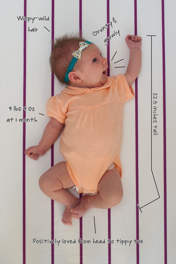 """cute baby """"blueprint"""" idea for milestone pictures"""