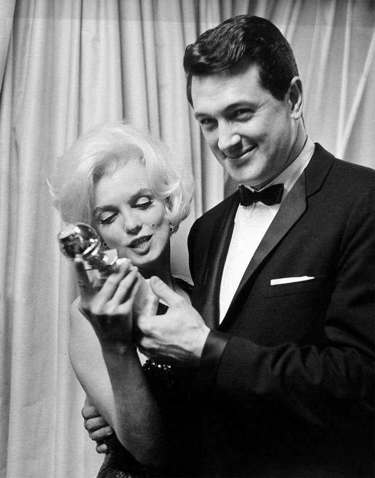 Marilyn Monroe and Rock Hudson at Golden Globe Awards, Beverly Hilton Hotel, March 5, 1962