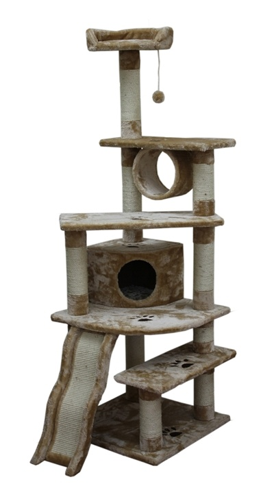what a great kitty condo!                                                                                                                                                                                 More